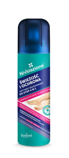 4 в 1 Дезодорант - спрей против гъбички и потене на краката Farmona Nivelazione